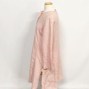 Eileen Fisher Sweaters - Eileen Fisher | Pink Long Linen Cardigan M